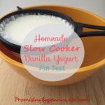 Slow Cooker Vanilla Yogurt Pin Test: Does it really work?