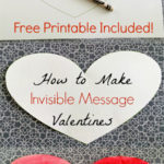 How to Make Invisible Message Valentines. So easy and fun! Great activity to do with kids.