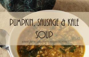 Pumpkin, Sausage and Kale Soup