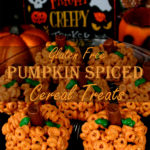 Gluten Free Pumpkin Spiced Cereal Treats: A gluten free alternative for Rice Krispie treats, perfect for Halloween or fall parties!
