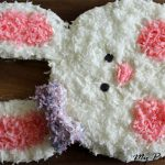 Easy Bunny Cake Tutorial: How to make a cute bunny cake with everyday kitchen items. Just 13 easy steps. Includes gluten-free options.