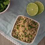 Pressure Cooker Cilantro Lime Brown Rice (Chipotle Copycat)