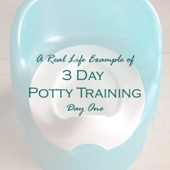3-Day Potty Training- Day 1