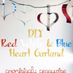 DIY Heart Garland with Video Instructions: This craft is simple and inexpensive! Some paper, string, scissors, a ruler and a stapler all you need.