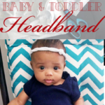 DIY 2 Minute Baby & Toddler Headband with Video Instructions. This DIY baby headband is thrifty and simple to make!