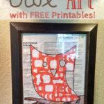 Easy Owl Art With Free Printable Templates!