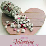 Valentine Muddy Buddies: This easy, gluten free mix takes just minutes to prep and makes a delicious Valentine's Day treat!
